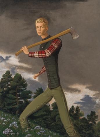 Jansson Stegner Lumberjack, 2018 Oil on canvas 72 x 53 in 182.88 x 134.62 cm (JAS18.006)