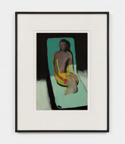 Jonathan Wateridge Lounger Study III, 2021 Oil on paper 18 x 13 3/8 x 1 1/2 in (framed) 45.7 x 34 x 3.8 cm (framed) 11 3/4 x 7 7/8 in (unframed) 30 x 20 cm (unframed) (JWA21.033)