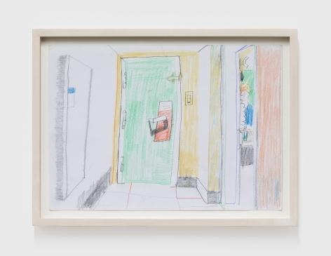 Gerlind Zeilner Motel 2, 2019 Colored pencil on paper 8 1/4 x 11 3/4 in 21 x 30 cm (GZE20.017)