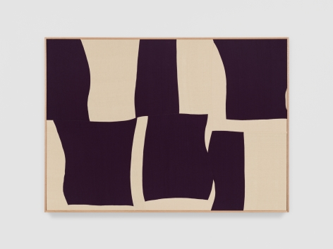 Ethan Cook Ecstasy Symphony, 2021 Handwoven cotton and linen, framed 50 x 70 in 127 x 177.8 cm (ECO21.030)