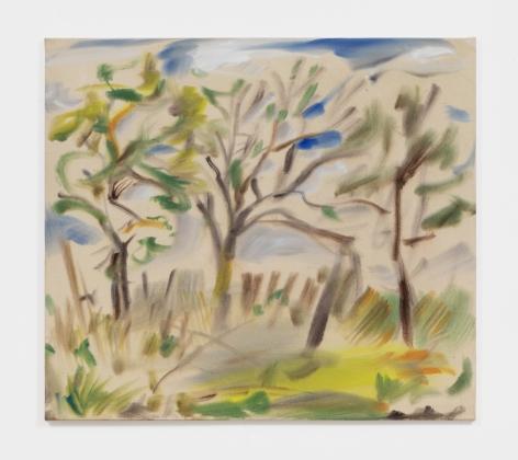 Sophie von Hellermann Stormy Morning, 2021 Acrylic on canvas 30 5/8 x 34 1/4 in 77.9 x 87 cm (SVO21.001)