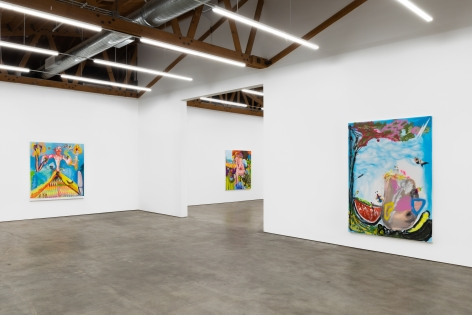 Installation View 8 of Alessandro Pessoli The Woodstock's Boy (November 9–December 21, 2019), Nino Mier Gallery, Los Angeles, CA