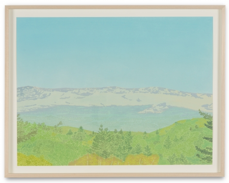 Jake Longstreth, Untitled (Valley Vista 1), 2019. Oil on watercolor paper, 20 x 15 in, 50.8 x 38.1 cm (JLO19.033)