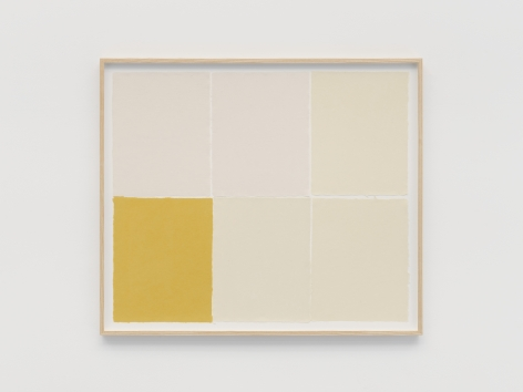 Ethan Cook A Yellow, 2021 Handmade pigmented paper 30 x 36 inches 76.2 x 91.4 cms (ECO21.015)