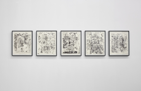 """Installation View of """"Osc Mix (series)"""""""
