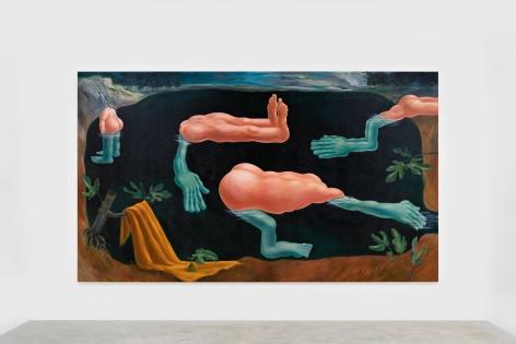 Louise Bonnet Bathers, 2021 Oil on linen 84 x 144 in 213.4 x 365.8 cm (LB21.008)