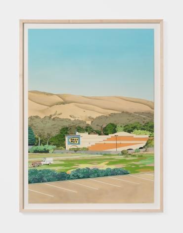 Jake Longstreth Daly City, 2021 Oil on paper 26 1/2 x 19 in (unframed) 67.3 x 48.3 cm (unframed) (JLO21.014)