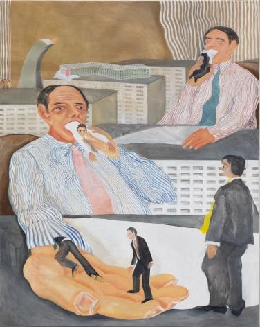 Tomasz Kowalski, Skyscraper's Dream, 2020. Oil on canvas, 49 1/4 x 37 3/8 in, 125 x 95 cm (TKO20.007)