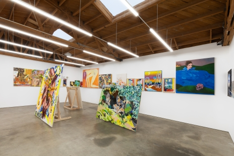 Installation view 3 of To Paint is To Love Again, Curated by Olivier Zahm (January 18-28, 2020) at Nino Mier Gallery, Los Angeles