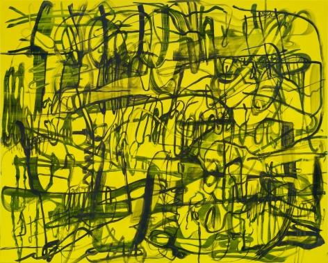 Jana Schröder, Kadlites VL1, 2019, Acrylic, graphite and lead on canvas, 94 1/2 x 118 1/8 in (240 x 300 cm), JSR19.024