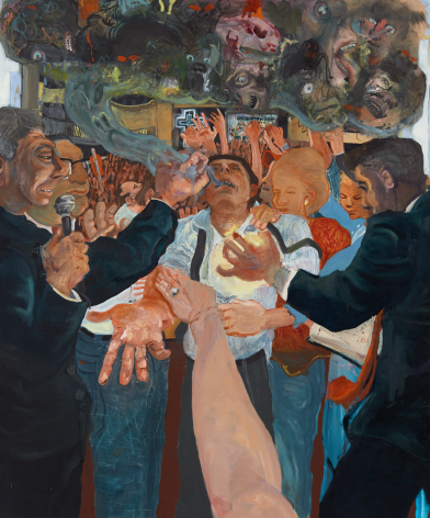 Celeste Dupuy-Spencer Through the Laying of the Hands (Positively Demonic Dynamism), 2018 Oil on linen 48 x 40 in 121.9 x 101.6 cm (CDS18.035)