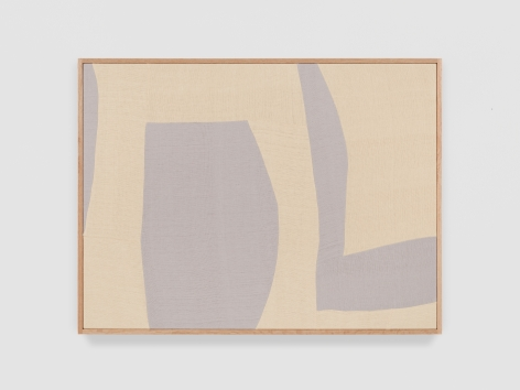 Ethan Cook Silver Rondo I, 2021 Handwoven Cotton and linen, framed 30 x 40 inches 76.2 x 101.6 cms (ECO21.039)