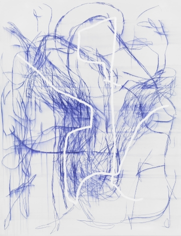 Jana Schröder, Spontacts DL 13, 2015. Copying pencil and oil on canvas, 78.7 x 61 inches, 200 x 155 cm (JSR15.011)