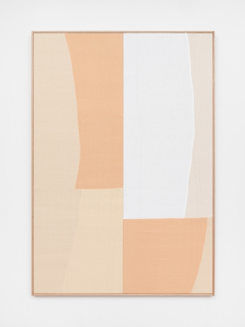 Ethan Cook, Together Again, 2020. Hand woven cotton and linen, framed 70 x 48 in, 177.8 x 121.9 cm (ECO20.040)