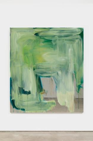Peter Bonde UNTITLED (GREEN LOVE), 2021 Oil on mirror foil 63 x 55 1/8 in 160 x 140 cm (PB21.020)