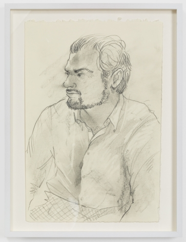 Rebecca Ness, Morgan, 2020. Graphite on paper, 7 x 10 in, 17.8 x 25.4 cm, 12 1/2 x 9 1/2 in (framed), 31.8 x 24.1 cm (RNE20.034)