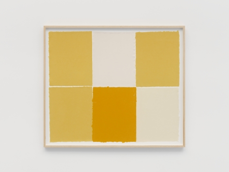 Ethan Cook Yellows, 2021 Handmade pigmented paper 30 x 36 inches 76.2 x 91.4 cms (ECO21.017)