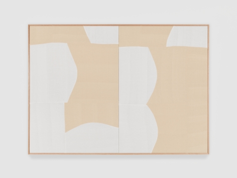 Ethan Cook Moving Silence, 2021 Handwoven cotton and linen, framed 50 x 70 in 127 x 177.8 cm (ECO21.019)