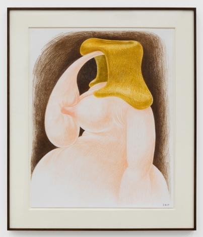 Louise Bonnet, TBT, 2020. Colored pencil on paper, 19 x 24 in, 48.3 x 61 cm (LB20.022)