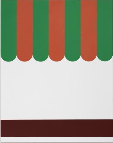 Thomas Wachholz, Piccoli, 2019. Red phosphorus and acrylic on canvas, 37.4 x 29.5 x 1.4 in, 95 x 75 x 3.6 cm (TW19.016)