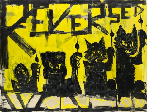 Bendix Harms, Reversed Evolution, 2020. Oil on canvas, 74 3/4 x 98 3/8 in, 190 x 250 cm (BHA20.006)