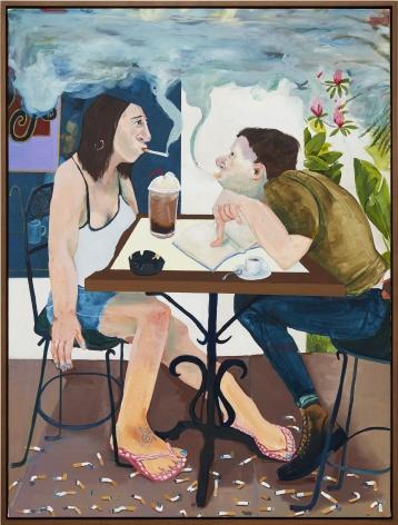 Celeste Dupuy-Spencer Me and Brandi, Goodbye Brandi, 2016 Oil on linen 48 x 36 x 1 1/2 in 121.9 x 91.4 x 3.8 cm (CDS16.011)
