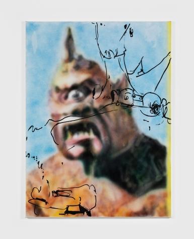 Antwan Horfee Ray's Cyclops, 2021 Acrylic on canvas 47 1/4 x 35 3/8 in 120 x 90 cm (HOR21.011)