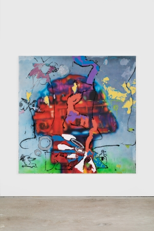 Antwan Horfee Obsessed by Garco, 2021 Acrylic on canvas 78 3/4 x 78 3/4 in 200 x 200 cm (HOR21.002)