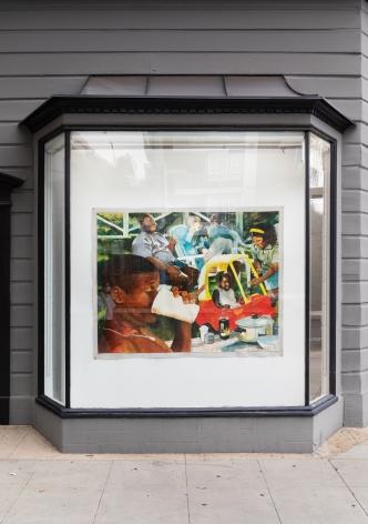 Installation View 1 of Kareem-Anthony Ferreira: First Foundation (September 12–October3, 2020). Nino Mier Gallery, Los Angeles, CA