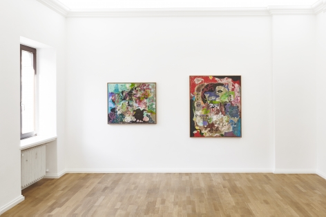 Installation view 3 of Michael Bauer: New Paintings (April 19-22, 2018) at Salon Nino Mier, Cologne
