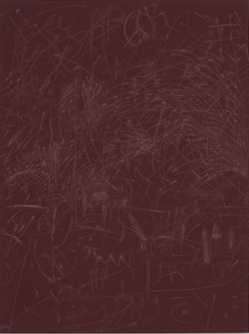Thomas Wachholz, Ohne Titel (Reibläche). Red phosphorous, binder and cardboard on wood, 55 x 41 x 1.4 inches, 140 x 105 x 3.5 cm TW16.013
