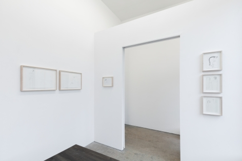 "Installation View of ""Black Elk Speaks"", Collection of Drawings around the door of the Front Room in Gallery 3"