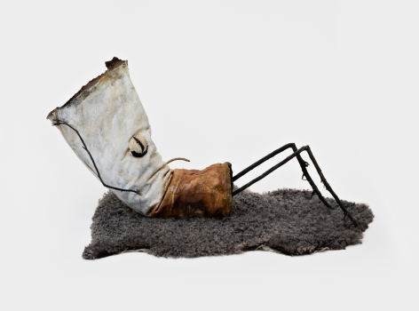 """Jon Pylypchuk Untitled """"I know I'll never love this way again"""" (situps), 2021 Bronze 24 x 43 x 18 in 61 x 109.2 x 45.7 cm (JPY21.008)"""