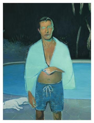 Jonathan Wateridge Late Swim, 2019 Oil on linen 78 3/4 x 59 1/8 in 200 x 150 cm (JWA20.012)