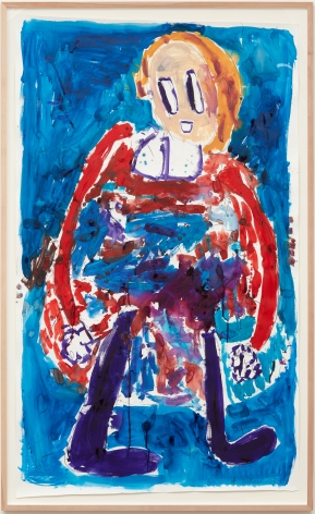 André Butzer, Untitled (Frau), 2017. Watercolor on paper, 79 7/8 x 48 1/8 in, 203 x 122 cm (AB17.020)