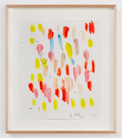 André Butzer, Untitled, 2018, Watercolor and graphite on paper, 12 x 9 3/4 in (30.5 x 24.8 cm), AB18.051
