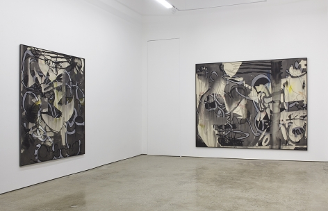 """Installation View of """"Pitty"""" and """"MYS/MOS #1"""""""