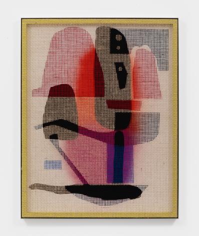 David Renggli Desire Painting (Vasilliaris), 2021 Acrylic on jute mesh and wood 35 7/8 x 45 5/8 in 91 x 116 cm (DR21.003)