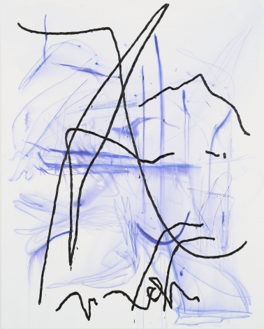 Jana Schröder, Spontacts GO 4, 2017. Copying pencil and oil on canvas, 78.7 x 63 inches, 200 x 160 cm (JSR17.006)