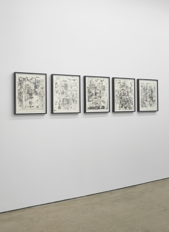 """Installation View of """"Osc Mix (series)"""" (Side)"""