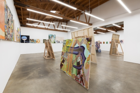Installation view 2 of To Paint is To Love Again, Curated by Olivier Zahm (January 18-28, 2020) at Nino Mier Gallery, Los Angeles