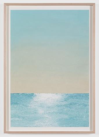 Jake Longstreth, Untitled (Seascape), 2020. Oil on watercolor paper, 21 x 14 in, 53.3 x 35.6 cm (JLO20.014)