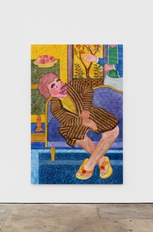Orkideh Torabi Beautiful Fist, 2020 Fabric dye on cotton 82 x 53 1/2 in 208.3 x 135.9 cm (OTO20.003)