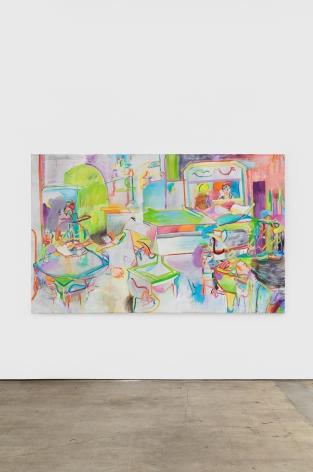 Gerlind Zeilner Sperlsaloon, 2019 Oil and egg tempera on canvas 59 1/8 x 88 5/8 in 150 x 225 cm (GZE20.011)