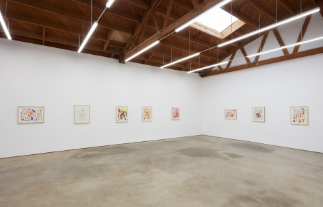 Installation View of Butzer Drawings in Secondary Room