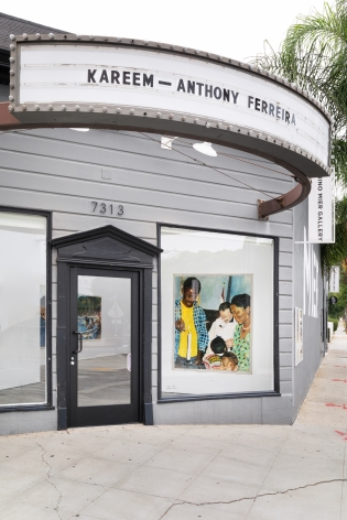 Installation View 2 of Kareem-Anthony Ferreira: First Foundation (September 12–October3, 2020). Nino Mier Gallery, Los Angeles, CA