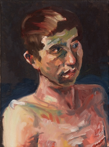 Celeste Dupuy-Spencer, By The Sign Upon His Precious Skin, 2018. Oil on canvas, 12 x 9 in, 30.5 x 22.9 cm (CDS18.008)