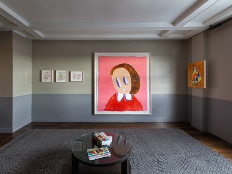 André Butzer, FELIX LA 2019, Installation view, Without chair