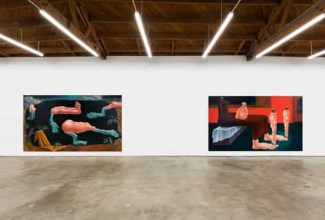 Installation View of Louise Bonnet, Vagabond, Nino Mier Gallery, Los Angeles
