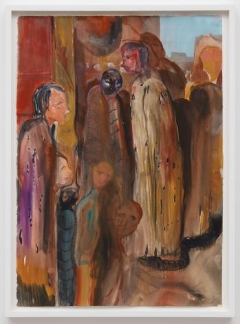 Tomasz Kowalski, Untitled, 2018. Watercolor on paper, 24 x 17 in, 61 x 43.2 cm (TKO18.018)
